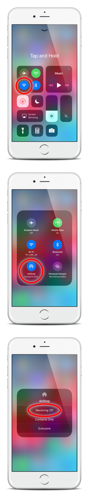 turn off airdrop on iPhone
