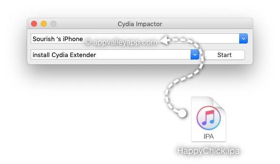 cydia impactor happychick ipa file